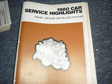 1980 FORD MUSTANG GRANADA FAIRMONT ENG EMISSIONS MANUAL
