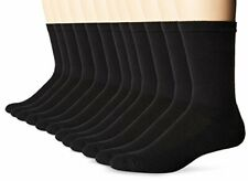 Hanes Men's Big and Tall FreshIQ X-Temp Active Cool Crew Socks 12-Pack Black ...