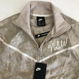 Nike Sportswear Women's Track LS Jacket 940250 221 NSW Champagne Sail Sz S