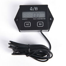 Digital Engine Tach Tachometer Hour Meter Inductive for Motorcycle Motor RTT