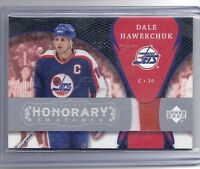 07-08 2007-08 UD TRILOGY DALE HAWERCHUK HONORARY SWATCHES JERSEY HS-DH JETS