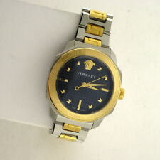 Versace VQD140016 Dylos Two Tone Blue Stainless Steel Blue Dial Swiss Watch