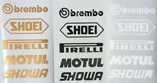 Brembo Shoei Motorsport Sponsoren Carbon Aufkleber Racing Set