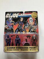 GI JOE 1997 COMMANDO TEAM 3-PACK COBRA COMMANDER BARONESS DESTRO FREE SHIP!