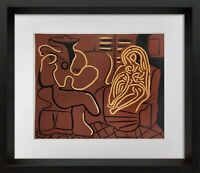 "Pablo Picasso LINOGRAVURE Ltd Edition -  ""Femme... guitariste"" 1959 w/Frame"