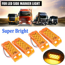 """4x 13LED 6"""" Side Marker Amber Clearance Lights Indicator for Heavy Truck Trailer"""