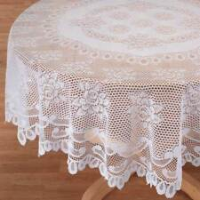 """A Round/Circular Lace Tablecloth 72"""" (183cms) diameter available in White/Cream"""