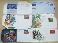 GB Airletters – 6 Different, 4 Christmas, 1 R Wedding & 1 Post Paid – Mint (Le1)