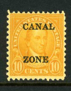 US Possessions Canal Zone Scott 87 10c Monroe 1925 Issue MOG 9D14 3