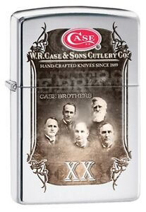W.R. Case & Sons Case Brothers High Polish Chrome Windproof Lighter 52449 *NEW*