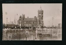 Wales Glamorgan Glam CARDIFF Entrance to Docks c1900/10s? RP PPC