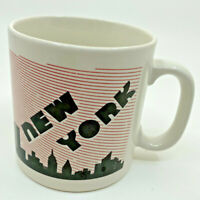 Vintage New York, NY Mug Coffee Cup Black Red White FPC England H. Wayne Bardy