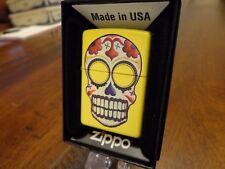 DAY OF THE DEAD SKULL ZIPPO LIGHTER MINT IN BOX 2010