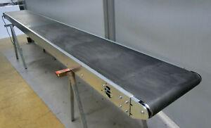 Förderband, Transportband, 4170 x 500 mm, PVC-Gurt, Trommelmotor
