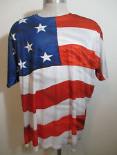 Spirit of America Polyester Flag T-Shirt Size 2XL Patriotic USA Fourth of July