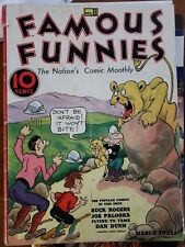 Famous Funnies #8 (Mar 1935, Eastern Color) beautiful white pages.  Buck Rogers