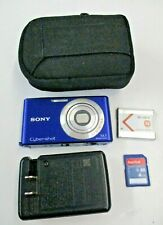 Sony Cyber-shot DSC-W530 4x Zoom 14.1MP Blue Digital Camera w/Battery, Case