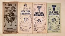 1907-10 Lot of 4 New York City History Hippodrome Playbill Shubert - Advertising