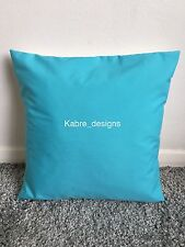 """1 12"""" Plain Turquoise Cotton Cushion Cover Other Colours Sizes Available"""
