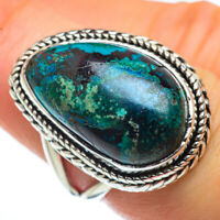 Chrysocolla 925 Sterling Silver Ring Size 7.5 Ana Co Jewelry R44450F