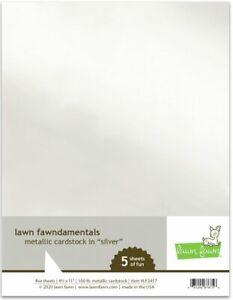 "New! Lawn Fawn Lawn Fawndamentals 8.5"" x 11"" Metallic Cardstock - Silver"
