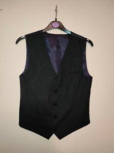 Boys dark grey waistcoat, M&S, age 13-14
