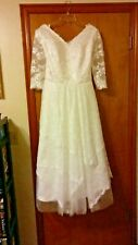 Wedding Dress Size 14 Short w/ Sleeves Never Worn Bohemian Boho Vintage Style
