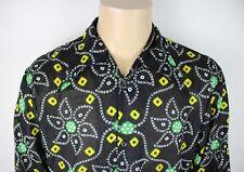Vtg Mens 70s Style Ethnic Dagger Collar Psychedelic Festival Hippie Shirt Large
