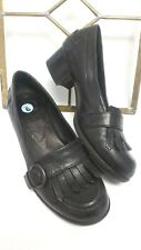 BORN Womens Sz 6 Black Leather Casual Comfort  Shoes EUC