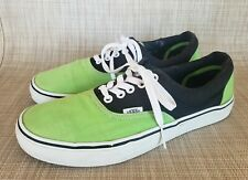 VANS ERA Neon Green and Black Canvas Sneakers Shoes Size 8.5 Mens/10 Womens