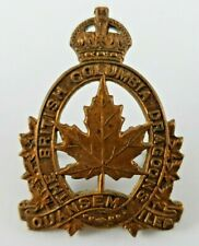 WW2 Canadian British Columbia Dragoons cap badge - 2 Lugs to Rear