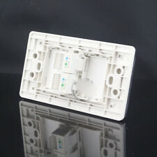 Wall Socket Plate Double CAT3 RJ11 Telephone Panel Faceplate 120mmx70mm