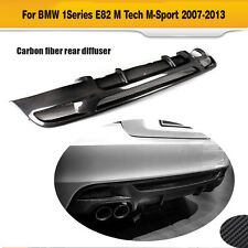 Rear Bumper Lip Diffuser  Carbon Fiber Fit For BMW 1 Series E82 M Tech M Sport