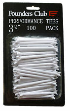 """Performance Low Friction Golf Tees by Founders Club - 3 1/4"""" - 100 Pack"""