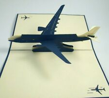 AIRPLANE pop-up greeting card (unique & beautiful decor/art/gift)