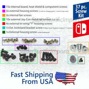 37pc Nintendo Switch Screws Repair/Replace Kit with or without Tools - Tri-wing
