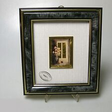 Hochwertiges Gilde Goldbild Folienbild Miniatur Bild im Rahmen 20 x 18 cm