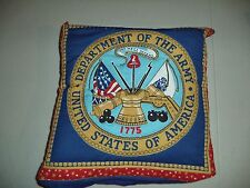UNITED STATES ARMY FLEECE QUILLOW -- QUILT & PILLOW - LAP BLANKET -  THROW