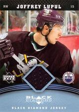 JOFFREY LUPUL 2006-07 Black Diamond Game Used Jersey Card Ducks Oilers #JJL