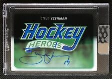 2018-19 Upper Deck UD Clear Cut Hockey Heroes Header Tribute Auto Steve Yzerman