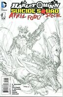 Harley Quinn and the Suicide Squad April Fools Special 1 Jim Lee Sketch Variant