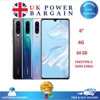 "Huawei P30 Lite 6"" 64GB Black, Blue, White 48MP Unlocked NFC Smartphone 4GB RAM"