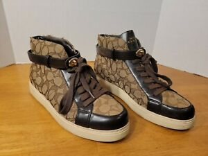 COACH SIGNATURE WOMENS SHOES SNEAKERS SIZE 10B