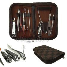 10 in 1 Stainless Nail Clipper Nipper Cutter Pedicure Manicure Set Kit Case Bag