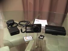 Sony Cybershot DSC WX100 18.2MP 10x Zoom Digital Camera, 8GB SD card - BOXED