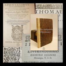 DIRITTO ECCLESIASTICO: 2 volumi DE SPONSALIBUS Matrimonio 1598 Venezia
