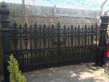 Cast Iron Gates, Iron Driveway Gates , 12ft opening Gilbert design + posts
