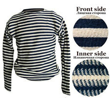 Telnyashka Russian Military Army Navy Striped Dark Blue T-Shirt 100% Cotton VMF