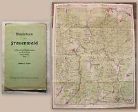 Wanderkarte von Frauenwald um 1920 Maßstab 1:25000 Thüringen Rennsteig xz