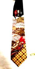 Nautica 100% silk tie Golf theme hand printed in Italy